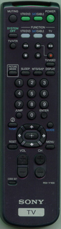 SONY 1-418-387-11 RM-Y168 Genuine OEM original Remote