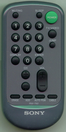 SONY 1-465-958-11 RM-792 Genuine OEM original Remote