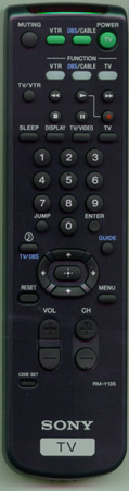 SONY 1-473-748-12 RM-Y135 Genuine  OEM original Remote
