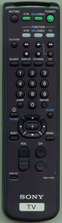 SONY 1-473-748-21 RM-Y135 Genuine  OEM original Remote