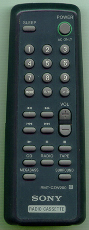 SONY 1-475-272-21 RMT-CZW200 Genuine  OEM original Remote