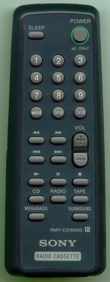 SONY 1-475-272-21 RMT-CZW200 Refurbished Genuine OEM Original Remote