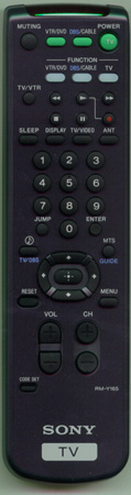 SONY 1-475-801-11 RM-Y165 Genuine  OEM original Remote