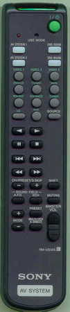 SONY 1-476-644-11 RM-US105 Genuine  OEM original Remote