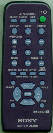 SONY 1-477-884-21 RM-SCQ1 Genuine OEM original Remote