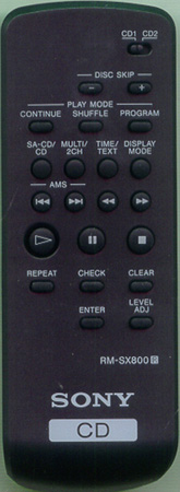 SONY 1-478-636-11 RMSX800 Genuine  OEM original Remote