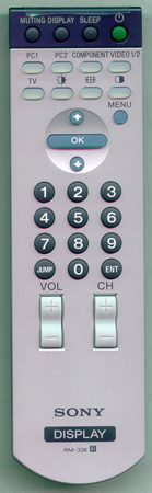 SONY 1-479-546-12 RM-336 Genuine OEM original Remote