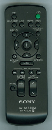 SONY 1-480-205-11 RMAAU016 Genuine OEM original Remote