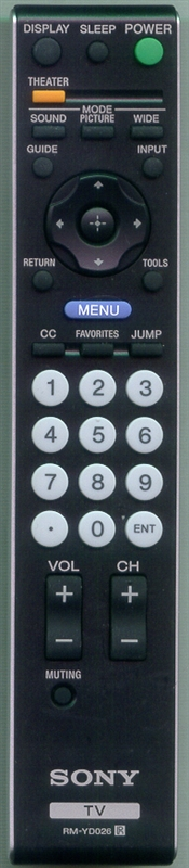 SONY 1-480-692-11 RM-YD026 Genuine  OEM original Remote