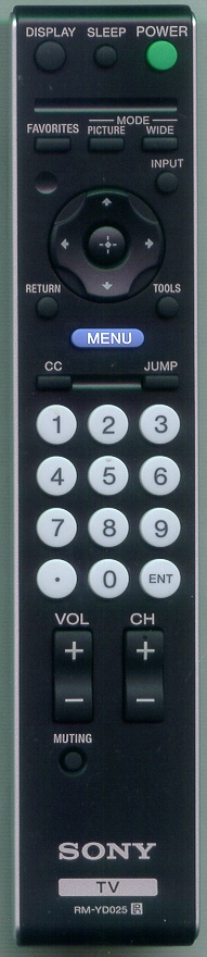 SONY 1-480-722-12 RM-YD025 Genuine OEM original Remote