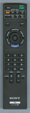 SONY 1-487-827-11 RM-YD035 Genuine  OEM original Remote