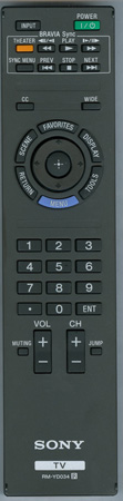 SONY 1-487-830-11 RM-YD034 Genuine  OEM original Remote