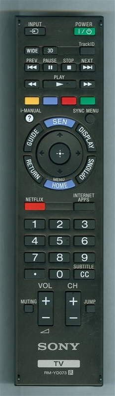SONY 1-489-998-11 RM-YD073 Genuine  OEM original Remote