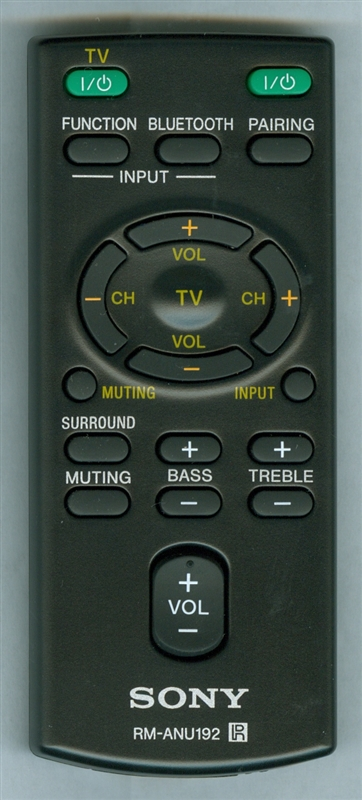 SONY 1-492-710-11 RM-ANU192 Genuine OEM original Remote
