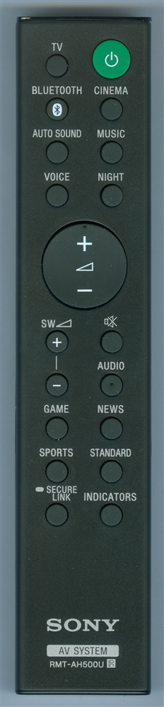 SONY 1-493-544-11 RMT-AH500U Genuine OEM original Remote