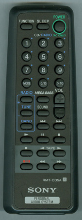 SONY 8-917-612-90 RMT-CD5A Genuine  OEM original Remote