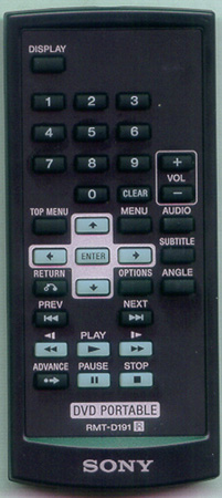 SONY 9-885-127-60 RMTD191 Genuine OEM original Remote