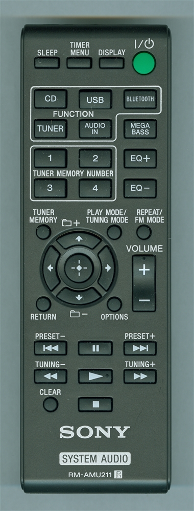 SONY A-2059-264-A RM-AMU211 Genuine  OEM original Remote