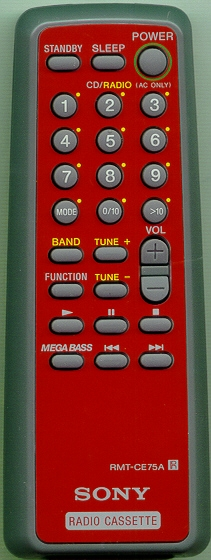 SONY A-3013-909-A RMT-CE75A RED Genuine OEM original Remote