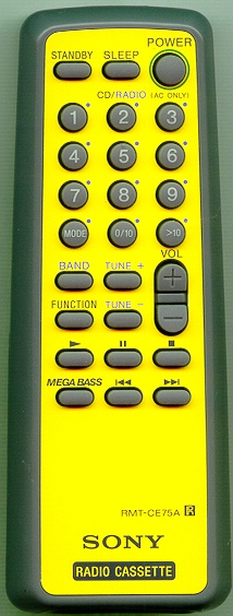 SONY A-3013-910-A RMT-CE75A YELLOW Refurbished Genuine OEM Remote