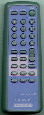 SONY A-3013-994-A RMT-CS20CPA Genuine  OEM original Remote