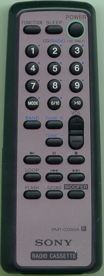 SONY A-3258-027-A RMT-CG50A Refurbished Genuine OEM Original Remote