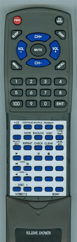 SONY 1-476-601-12 RM-SC500 Custom Built Redi Remote