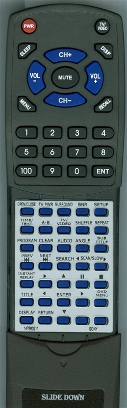 SONY 1-476-602-11 RMT-D126A Custom Built Redi Remote
