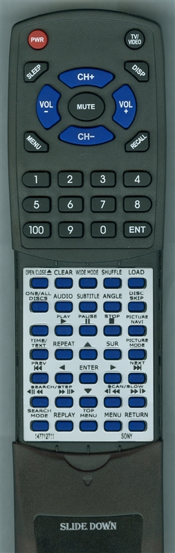 SONY 1-477-127-11 RMT-D144A Custom Built Redi Remote