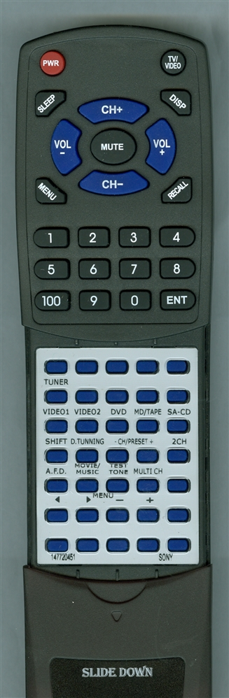 SONY 1-477-204-51 RMU306B Custom Built Redi Remote