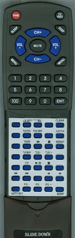 SONY 1-477-715-11 RM-SMR1  Custom Built   Redi Remote