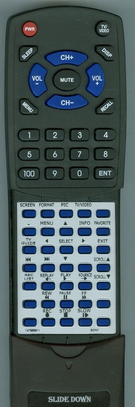 SONY 1-478-856-11 RM-Y823 Custom Built Redi Remote