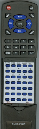SONY 1-478-943-11 RM-Y1109 Custom Built Redi Remote
