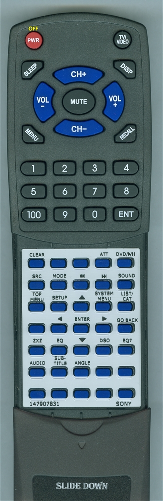 SONY 1-479-078-31 RMX704 Custom Built  Redi Remote
