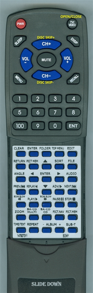 SONY 1-479-273-11 RMASP001 Custom Built Redi Remote