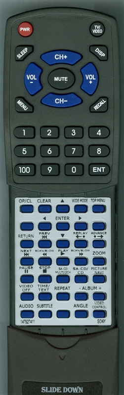 SONY 1-479-274-11 RM-ASP002 Custom Built Redi Remote