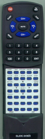 SONY 1-479-438-11 RM-YD003 Custom Built Redi Remote