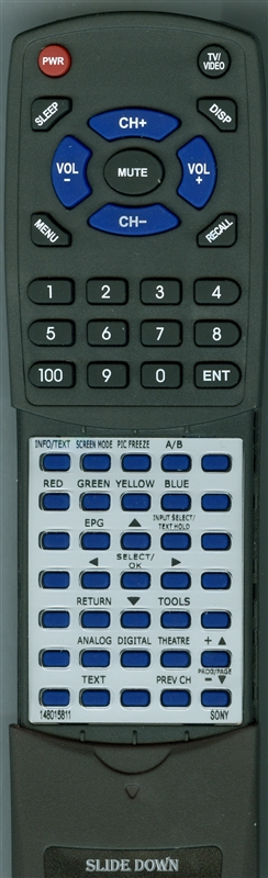 SONY 1-480-158-11 RMED009 Custom Built Redi Remote