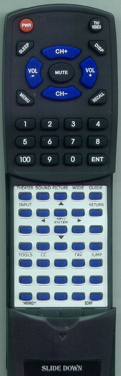 SONY 1-480-692-11 RM-YD026 Custom Built Redi Remote