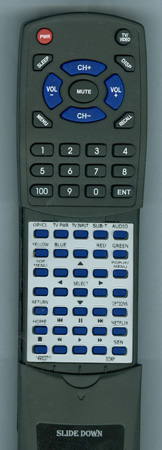 SONY 1-490-027-11 RMT-B119A Custom Built Redi Remote