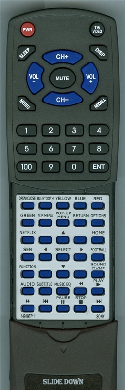 SONY 1-491-967-11 RM-ADP092 Custom Built Redi Remote