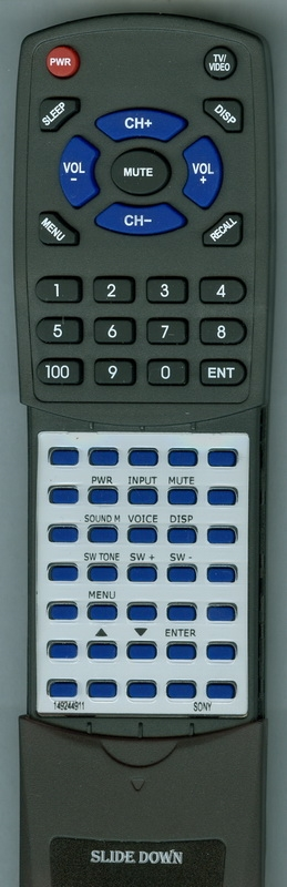 SONY 1-492-449-11 RM-ANU164 Custom Built Redi Remote
