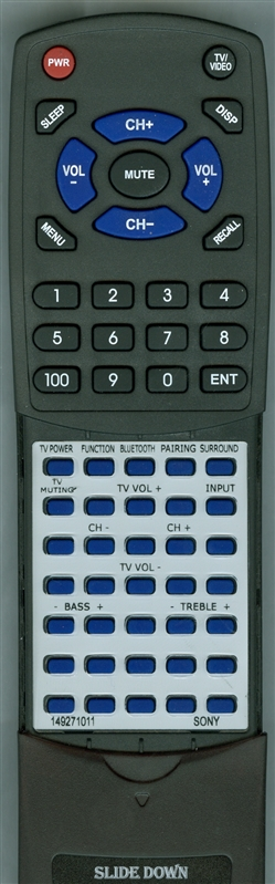 SONY 1-492-710-11 RM-ANU192 Custom Built Redi Remote