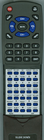 SONY 1-492-766-11 RM-YD102 Custom Built Redi Remote