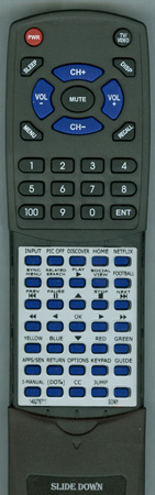 SONY 1-492-767-11 RM-YD103 Custom Built Redi Remote