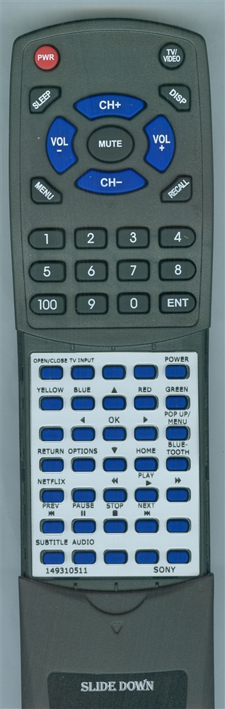 SONY 1-493-105-11 RMT-VB200U Custom Built Redi Remote