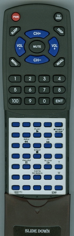 SONY 1-693-017-11 RM-T509 Custom Built Redi Remote