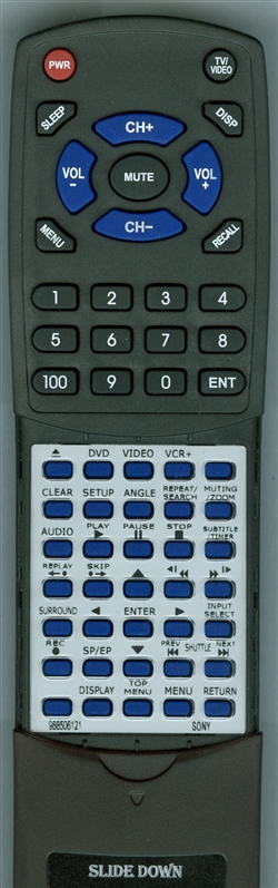 SONY 9-885-061-21 RMT-V501D Custom Built Redi Remote