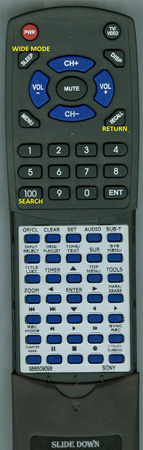 SONY 9-885-090-98 RMTD223A Custom Built Redi Remote
