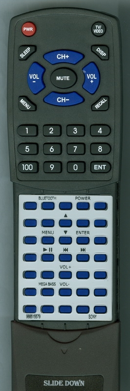 SONY 9-885-155-79 RMT-CX60IP Custom Built  Redi Remote